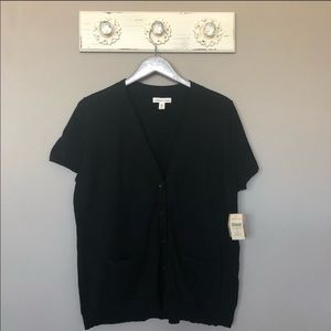 Coldwater Creek   Black Boyfriend Cardigan Sweater